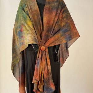 Fall inspired silk cape